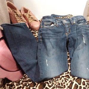 Guess Women's Jeans Blue W29 L31 Stretch Skinny